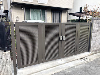 エクステリアリフォーム 台風の強風でも安心な門扉