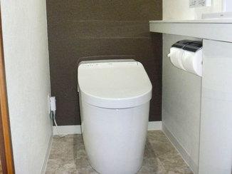 トイレリフォーム カタログ掲載商品のように高級感のあるトイレ
