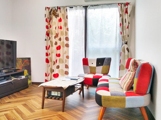 内装リフォーム ヘリンボーン柄の床で雰囲気を変えたお部屋