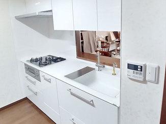 キッチンリフォーム 家事の負担を軽減できる、機能性にこだわったキッチン